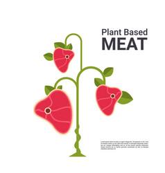 plant based vegetarian steak eco food tree beyond vector image