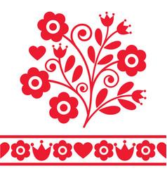 Polish spring folk art design elements vector