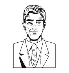 Pop art businessman vector