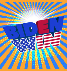poster dedicated to us presidential election vector image
