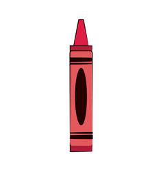 Red crayon color icon image vector