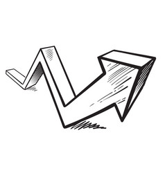 rising arrow vector image