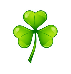 Saint patricks day irish three leaf vector