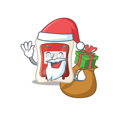 santa blood bag cartoon character design having vector image