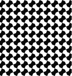 Seamless black white geometric pattern background vector image