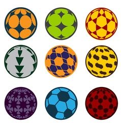 set of football and soccer balls vector image vector image