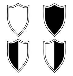 set shield icon vector image