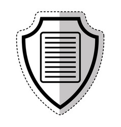 Shield insurance with document isolated icon vector
