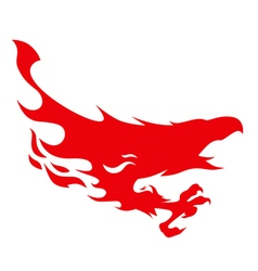 silhouette a flying phoenix vector image