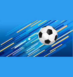 soccer ball web banner for sport game event vector image