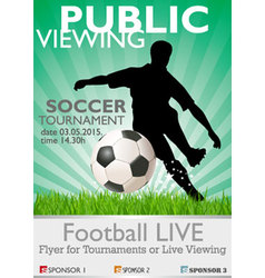 soccer tournament vector image vector image