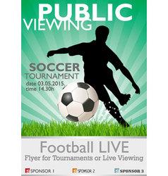 Soccer tournament vector
