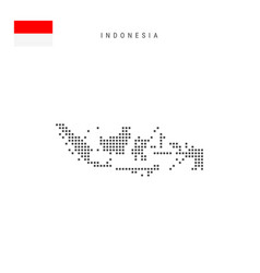 Square dots pattern map indonesia indonesian vector