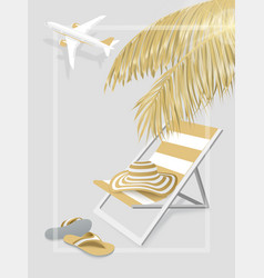 summer vacation banner vector image