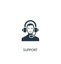 Support icon simple element vector