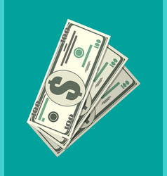 Three dollar banknotes vector
