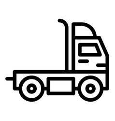 Truck without a trailer line icon cargo vector