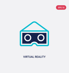 two color virtual reality glasses icon from vector image