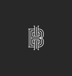 Two letters abbreviation bi or ib logo monogram vector