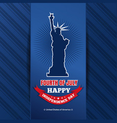 us independence day design 4th of july vector image
