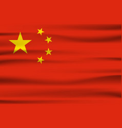 Wave china flag official colors and proportion vector