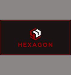 Yu hexagon logo design inspiration vector