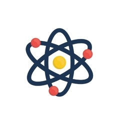 Atom molecule isolated vector image vector image