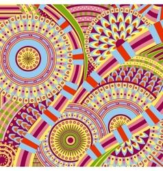 Attractive Tribal Ethnic background Design vector image vector image