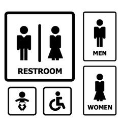Restroom Sign vector image vector image