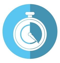 stopwatch fast delivery symbol shadow vector image