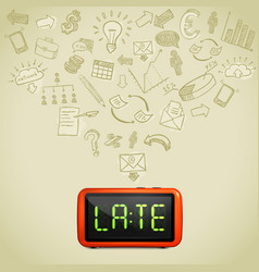 business lateness concept vector image vector image