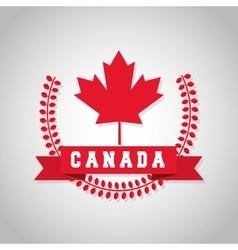 Canadas County design Maple leaf icon Wreath vector image vector image