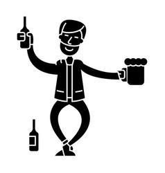 drunk man icon sign o vector image