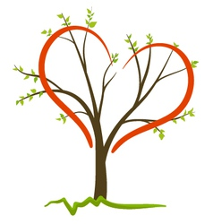 love tree concept vector image vector image