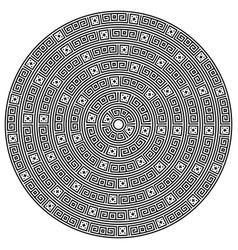 monochromatic ethnic seamless textures vector image vector image