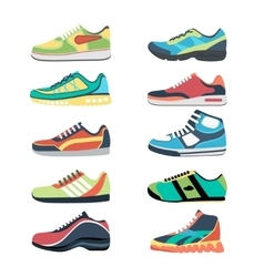 Sports shoes set vector image