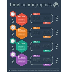 infographics of technology or education process vector image vector image
