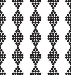 ornament seamless black monochrome mugs vector image