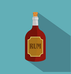 rum icon flat style vector image vector image