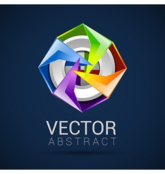 abstract logo design template abstract isolated vector image vector image