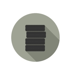 Car tires icon vector image