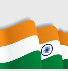 Indian waving flag vector