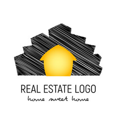 logo template for real vector image vector image