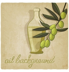 Olive branch background vector