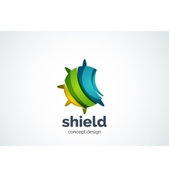 Round shield logo template security or safe vector image vector image