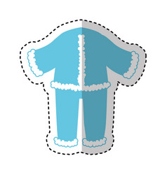 typical winter costume icon vector image
