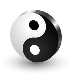 Yin Yang symbol icon vector image vector image