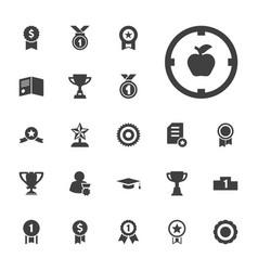 22 achievement icons vector