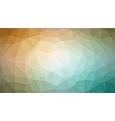 Abstract biege green gradient lowploly of vector