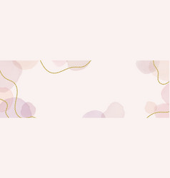 abstract dusty pink liquid watercolor banner vector image